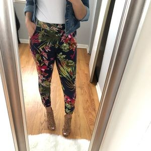 Pants - Tropical Print Joggers